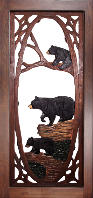 Bear Family Screen Door